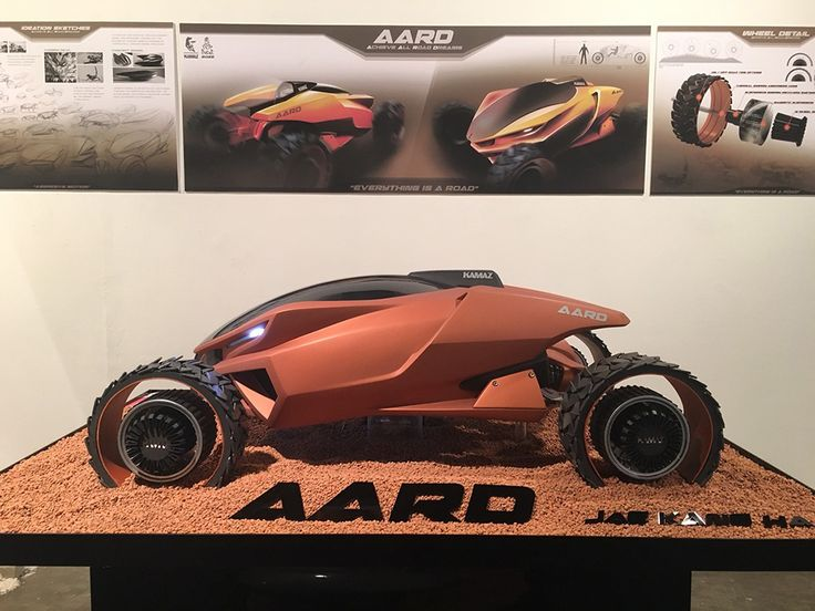 Designed for the Dakar Rally in the desert, this far-out dune buggy called the AARD naturally takes inspiration from an animal right at home in the