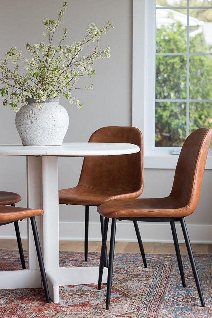 Dining Room Chairs Leather Upholstered Dining Chairs Ideas In