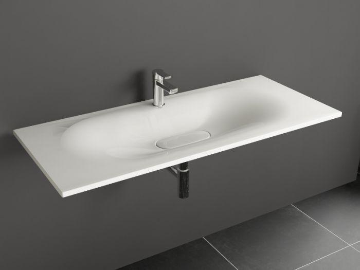 Aqua Bagno DROP Design Keramik Waschtisch 120cm ohne...