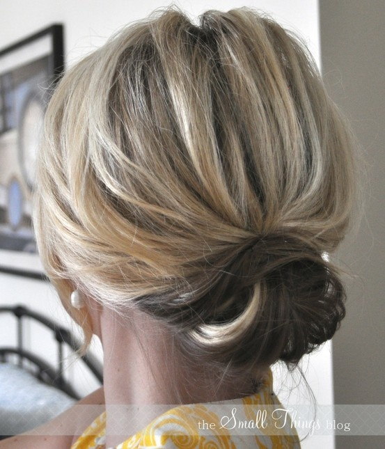 DIY updo for shoulder-length hair. Website won't load love this though