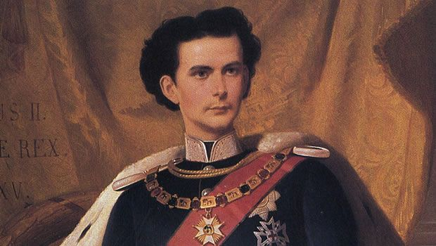 Ludwig II of Bavaria (1845-1886) - best known for Neuschwanstein, the fairy-tale palace he ordered built on a Bavarian hilltop,