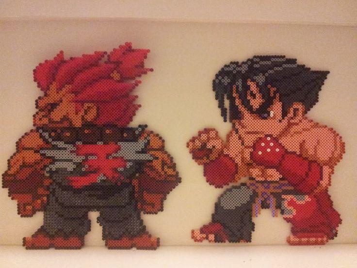 Akuma (Street Fighter)and Jin Kazama (Tekken) Wall by NuBererer on DeviantArt