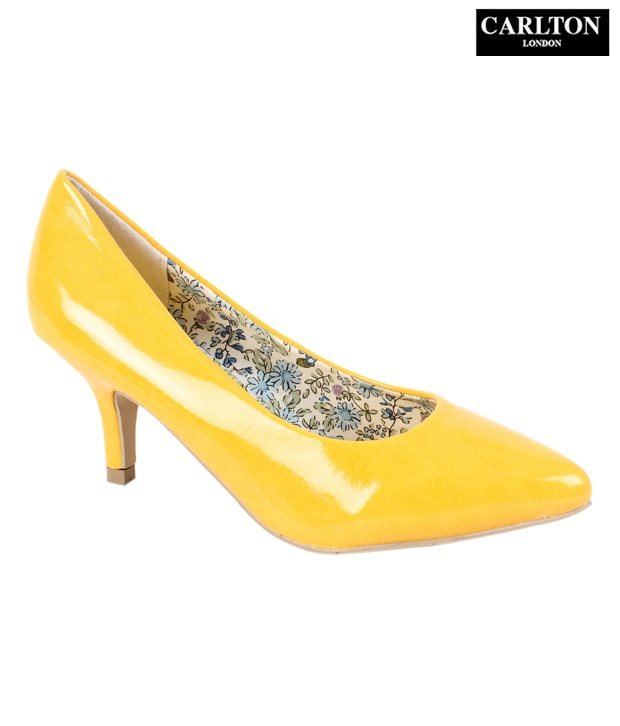 #Snapdealbestproducts Carlton London Yellow Shine Slip-on Heels, http://www.snapdeal.com/product/carlton-london-yellow-shine-slipon/428614?pos=6;454