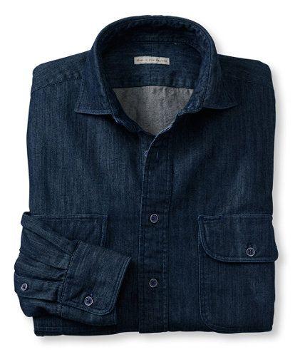 New England Shirt Company Denim Work Shirt - Made in the USA #LLBean
