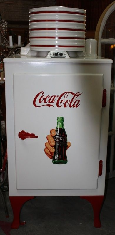 Rare Vintage Coca-Cola Fridge. Cotton Depot, Monroe, Ga.