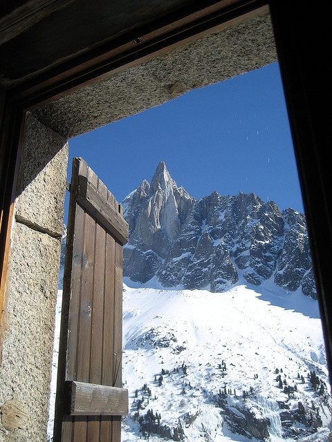 The Dru from the Montenvers Hotel, above Chamonix.