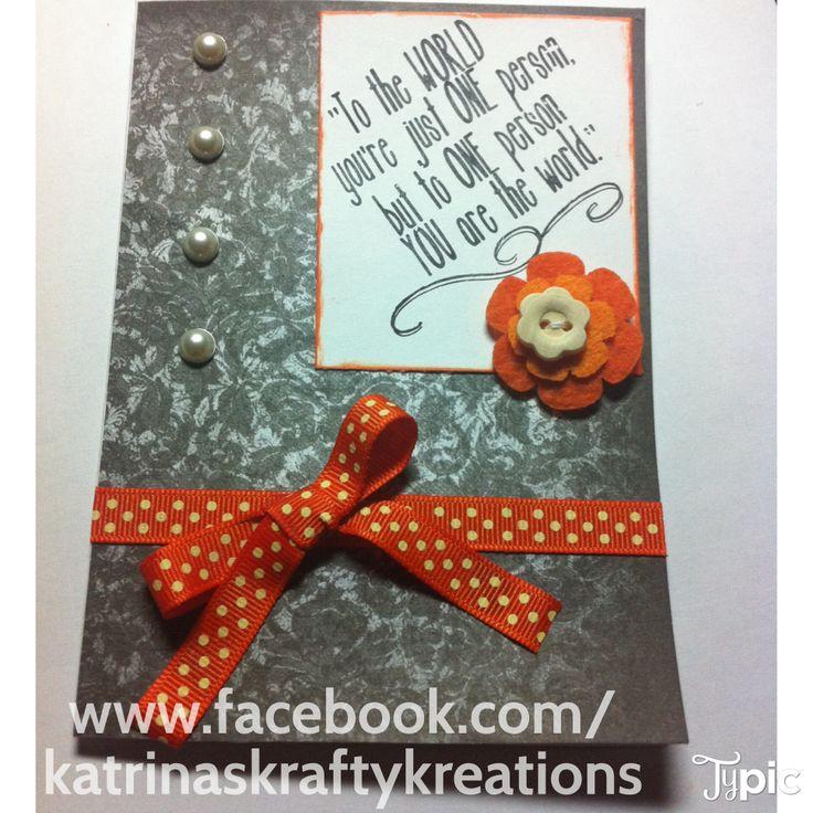 Friend Card, available here www.facebook.com/katrinaskraftykreations