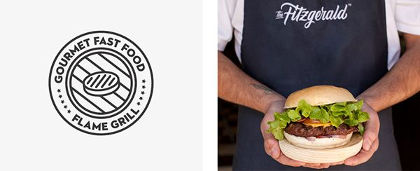 The Identity of The Fitzgerald Burger Company #identity #design