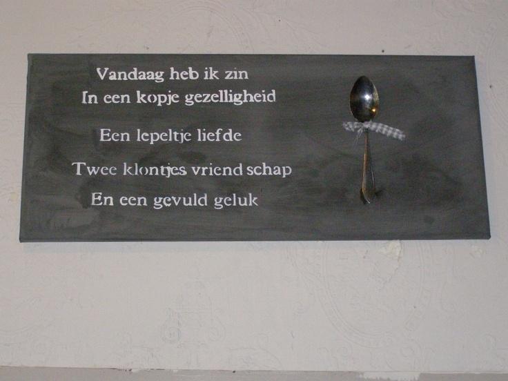 Muurstickers Keuken Kruiden : Canvasdoek lepel voor muur in open keuken Teksten Pinterest