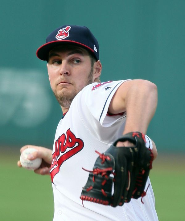Cleveland Indians Trevor Bauer pitching against the Oakland Athletics  at Progressive Field, Cleveland, Ohio, on May 30, 2017. (Chuck Crow/The Plain Dealer) Indians won 9-4.