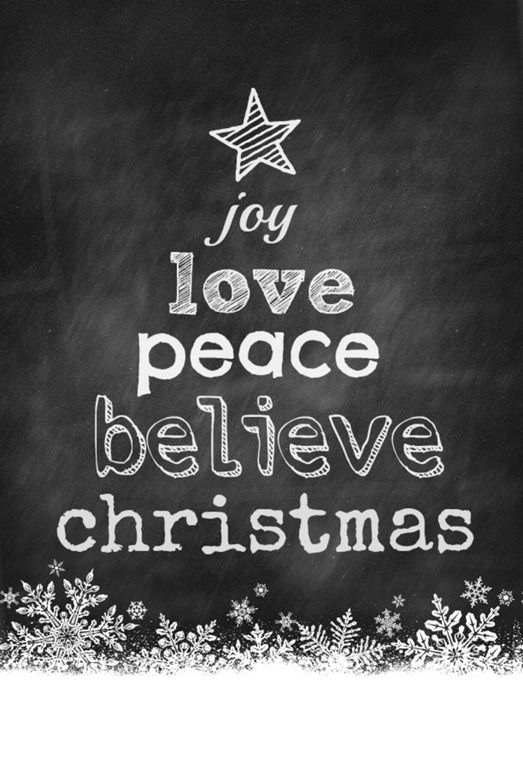 christmas tree chalkboard free printable + more {ginger snap crafts}