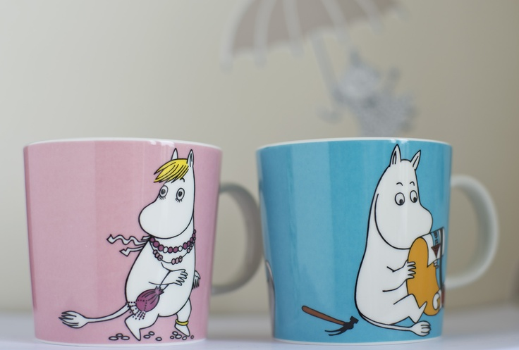 The new Moomin and Snorkmaiden mug from Arabia.