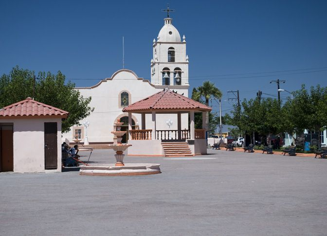 the spanish church in Jesus Navarette,Ojinaga, Chihua Mexico Where so many of our Rede Ancestors were Baptised, and Married.