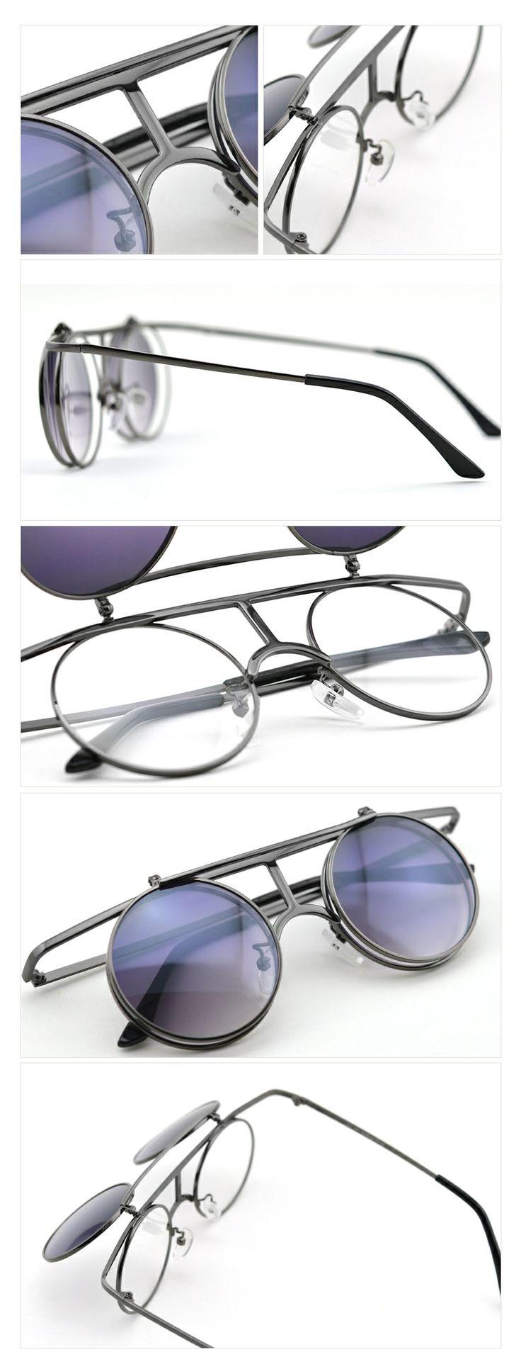 #Steam Punk flip style sunglasses retro style sunglasses suit your face sunglasses Black lens #Choose cool sunglasses -- Visit FUNMEMO.COM