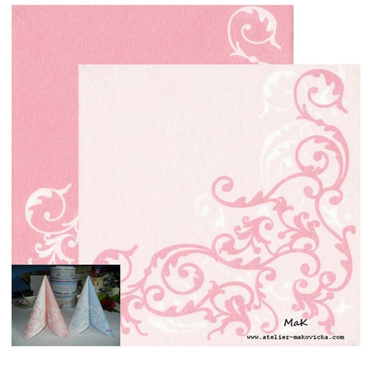 luxusné servítky z netkanej textílie biela/ružová pre romantickú hostinu