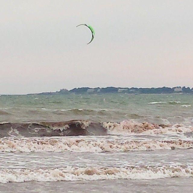 Kite #surfing on 2nd Beach #Newport