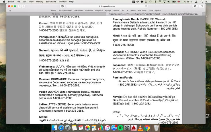 My insurance EOB insulted Pennsylvania Dutch and Navajo translations in their language assistance service options