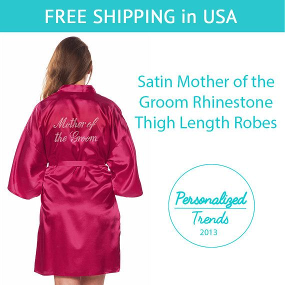 Fuchsia Satin Mother of the Groom Thigh by PersonalizedTrends