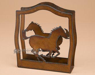 Rustic Western Metal Art Napkin Holder Horse Nh5