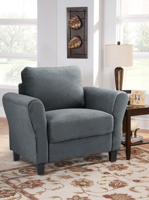 Celestia Armchair Living Room Chairs Rolled Arm Chair Furniture