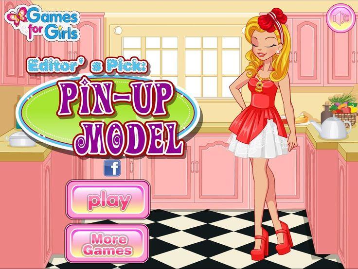 Dziewczyna kocha ubrania sprzed połowy wieku. Jak będzie się prezentować w stylu pin-up?  http://www.ubieranki.eu/ubieranki/10333/w-stylu-pin_up.html