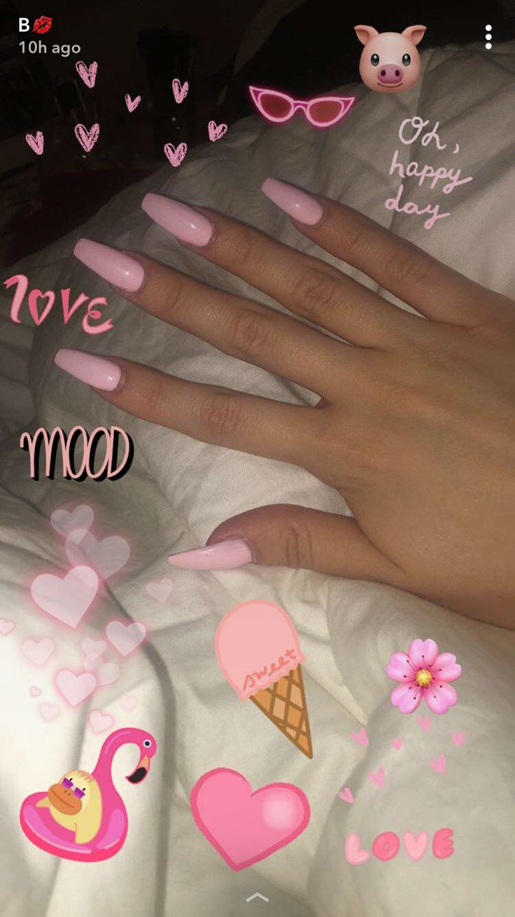 pink coffin nails snapchat | So Fetch in 2019 | Acrylic ...