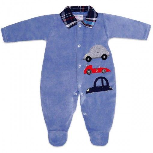 Macacão de Plush para Bebê Menino Carrinho - Travessus