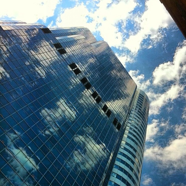 Reflecting on a cloudy day in downtown Toronto