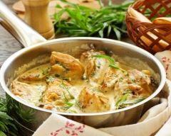 emincé de poulet aux lardons et crème fraîche