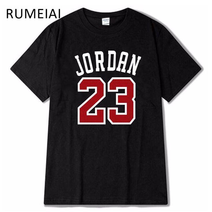 RUMEIAI 23 jordan t shirt 2017 Fashion Printed short sleeve Cotton couple t shirt design jordan mens clothing O-Neck Tops tees