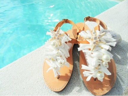 Bridal Sandal with Golden-Pearl Starfish