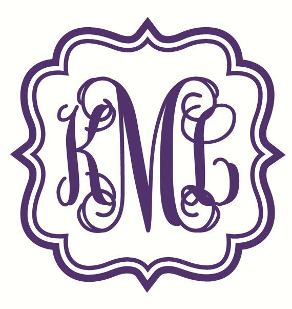 Unique Monogram Car Decals Ideas On Pinterest Car Decals - Monogram car decal sticker