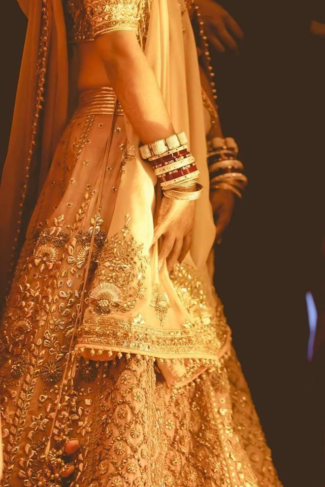 Real Indian Weddings - Vijayeeta and Karan | WedMeGood | Salmon Colored Lehenga…