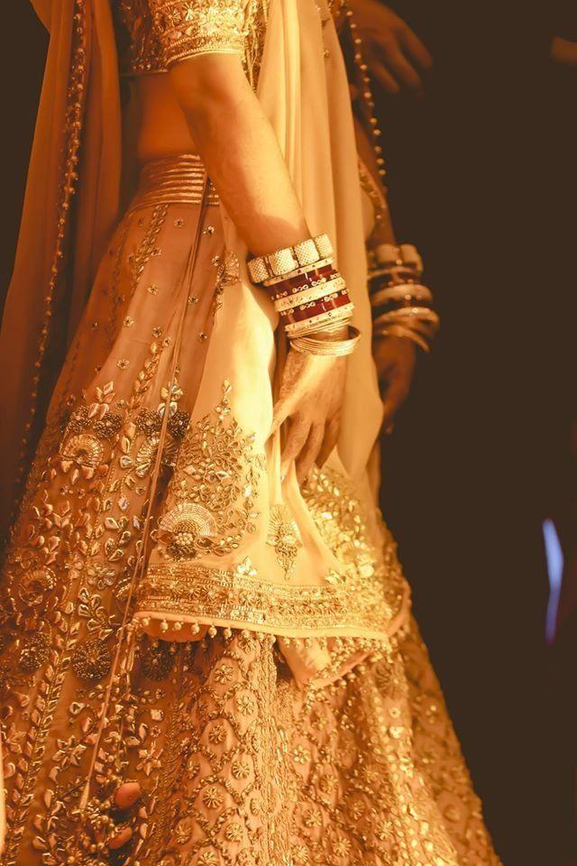 Real Indian Weddings - Vijayeeta and Karan | WedMeGood | Salmon Colored Lehenga…