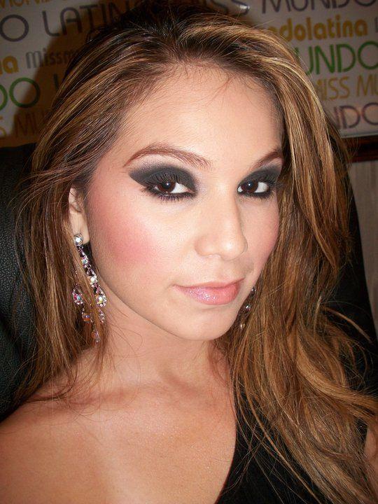 Smokey Eyes And Soft Lips Miss Puerto Rico Beautiful Fashion Model Bridal Makeup Wedding