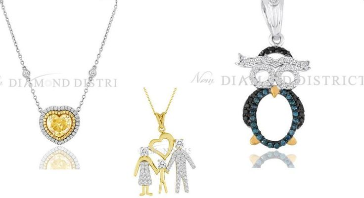 Check out our new designer Pendants & Necklaces Set With White Gold and Yellow Gold!
