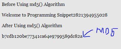 Generating Unique ID using md5() Algorithm