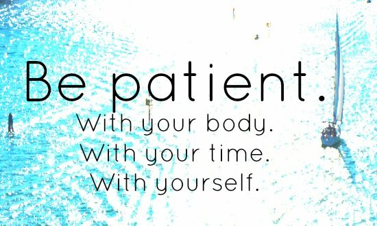 Be patient in Physical Therapy for running injuries.