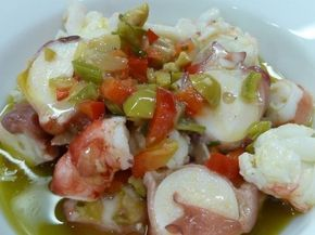 Salpicón de Pulpo Te enseñamos a cocinar recetas fáciles cómo la receta de Salpicón de Pulpo y muchas otras recetas de cocina..