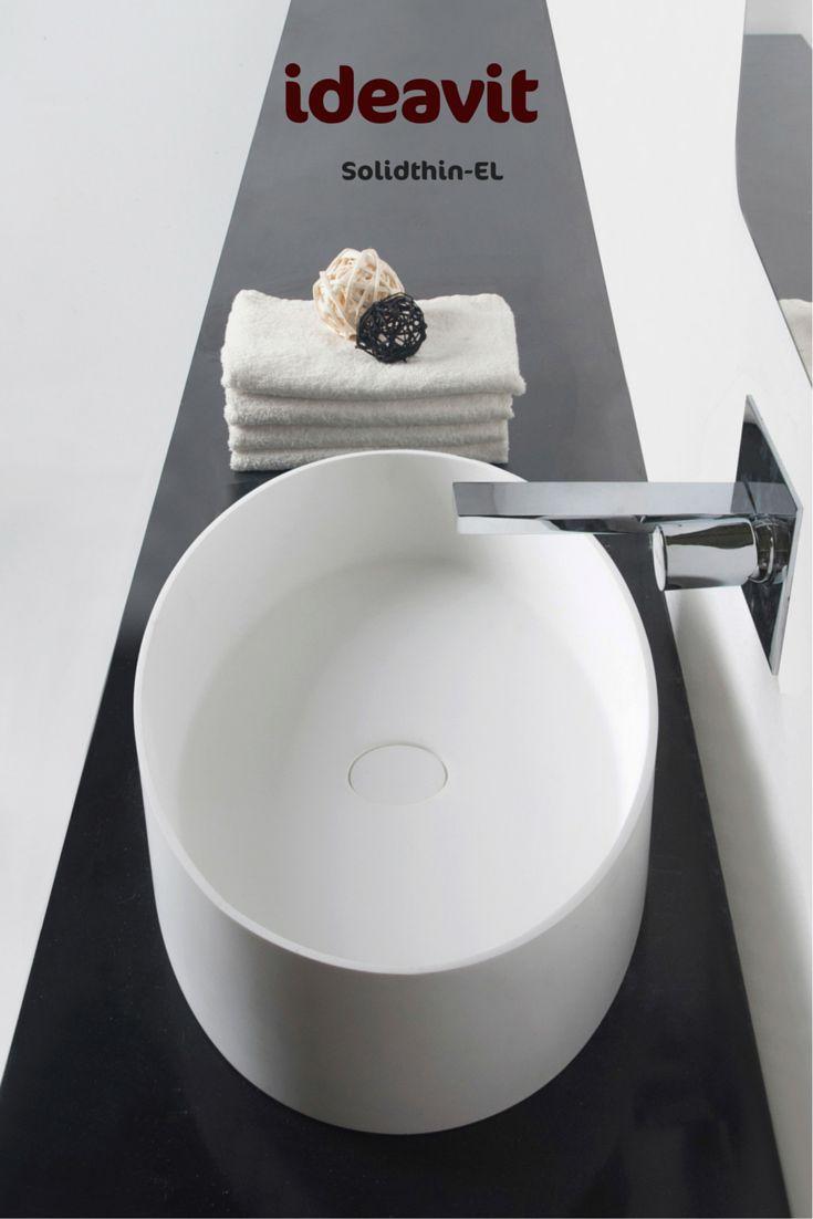 Code:290035 solidthin-EL Freestanding washbasin Size : 600x350x125 mm Solid surfaces White matt Thin Edge 6 mm