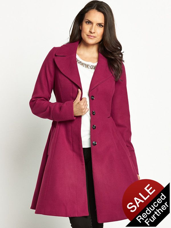 Savoir Fit and Flare Swing Coat | very.co.uk