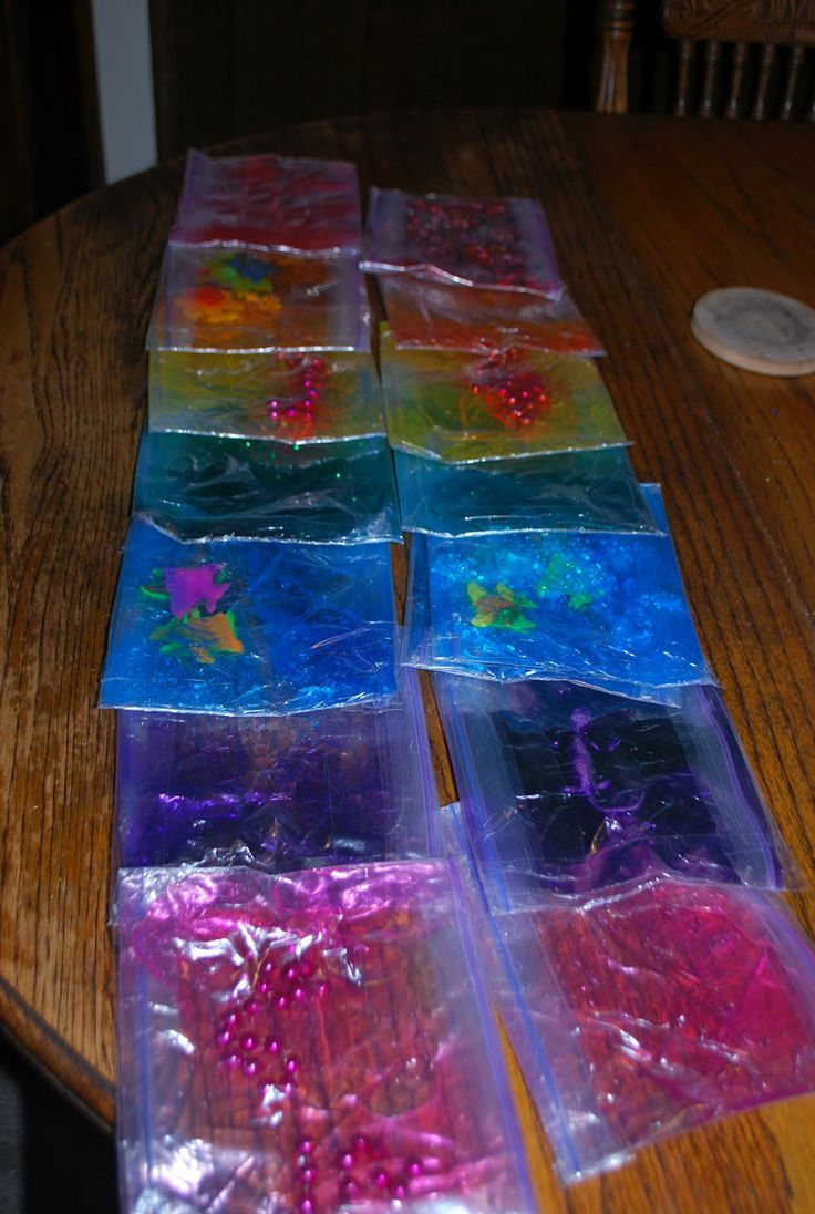 sensory bags- love these!