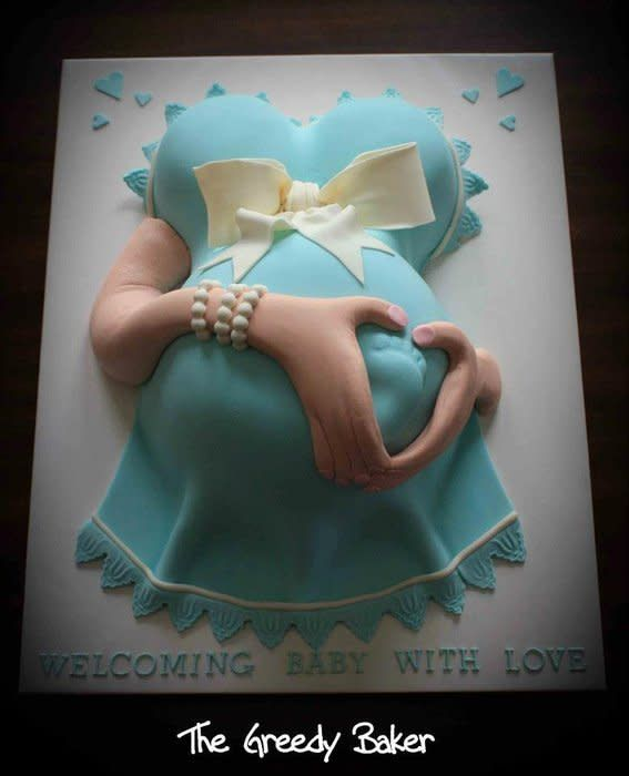 A baby shower cake created for the lovliest customer. his was a hard design concept to wrap my head around for a while there but I am pleased with the results. The cake was made from 4 individual cakes – 2 for the belly and 2 for the boobs with...