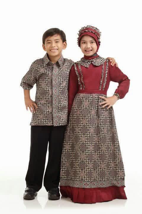 Batik Muslim, Busana Muslim, Contoh Baju Muslim, Model Baju Muslim, 10 Contoh Model Baju Batik Muslim Anak Terbaik,
