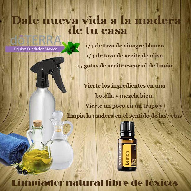 #Limpia tu hogar #naturalmente con #aceites_esenciales #doTERRA #maderas #limón