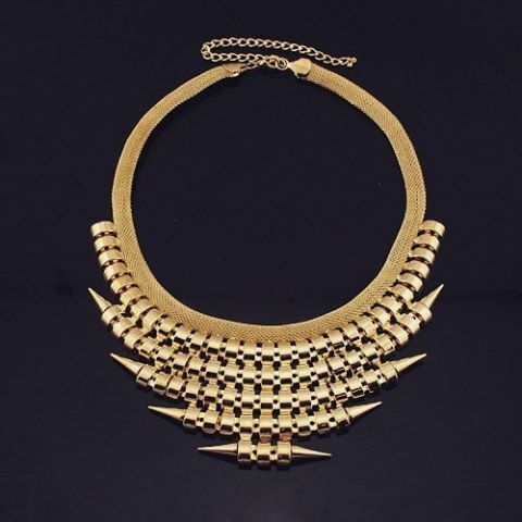 КОЛЬЕ С ШИПАМИ   345 грн   https://dekolie.com/VB1195   #necklace #goldnecklace #statementnecklace #rockstyle #awsome #jewelryofinstagram #lookbook #rockgirl #ожерелье #колье #бижутерияукраина #купитьколье