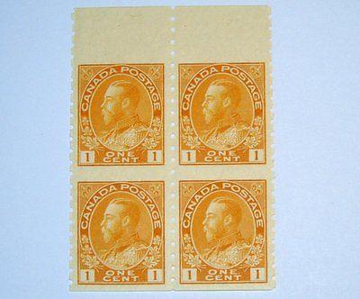 Stamp Pickers Canada 1924 KGV Admiral Coil 4-block Scott #126a MNH VF $160+