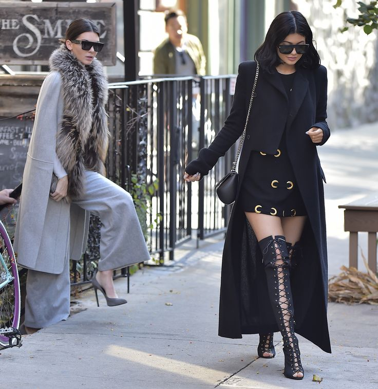 Out in New York City with Kylie Jenner.   - ELLE.com
