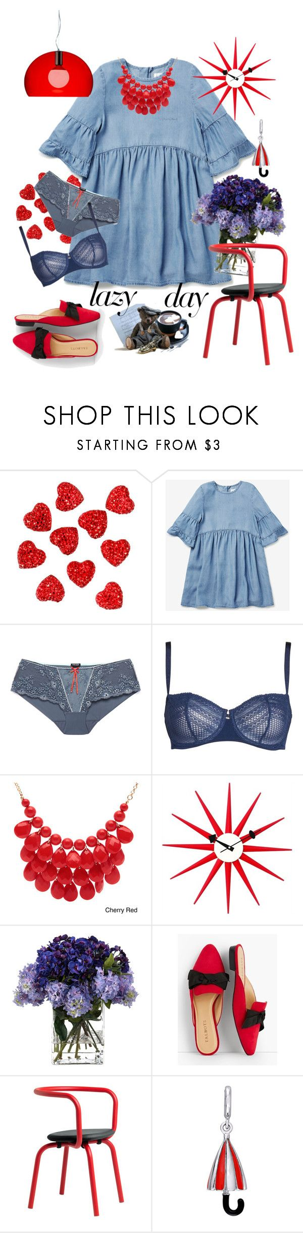 """Just a lazy day:)"" by j477 ❤ liked on Polyvore featuring Heidi Klum, Passionata, Alexa Starr, John-Richard, Talbots, Laura Ashley and Kartell"