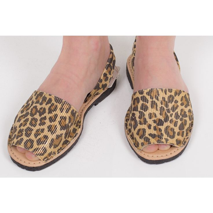 Abarca Leopard sandals by Marenas - Stylish, comfortable and durable  sandals with slingback and slightly